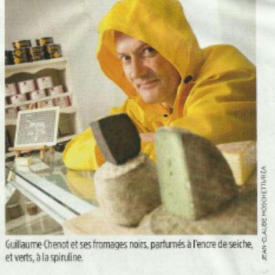 Guillaume Chenot et ses fromages noirs, parfumés à l'encre de seiche, et verts, à la spiruline, ses créations uniques en fromagerie.