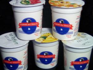 Les yaourts au lait bio de la ferme du Golfe à Arradon.