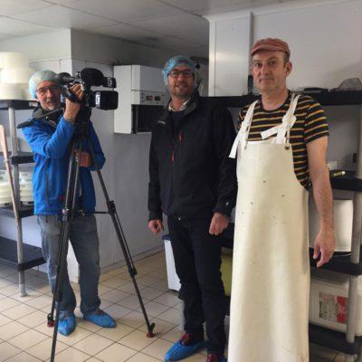 Le journaliste Stéphane Izad et le reporter Philippe Beaugey de France 3 Bretagne